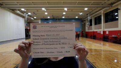 Duquesne University [Virtual Team Performance Division I Prelims] 2021 NCA & NDA Collegiate Cheer & Dance Championship