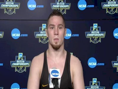 Spencer Lee (Iowa) after 125-pound semifinal win at 2021 NCAA Championships