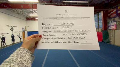 Colorado Lightning Athletics - Black Diamonds [All Star Senior - Jazz - Small] Varsity All Star Virtual Competition Series: Event VII