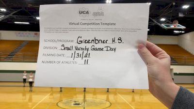 Greenbrier High School [Game Day Varsity] 2021 UDA South Spring Virtual Dance Challenge
