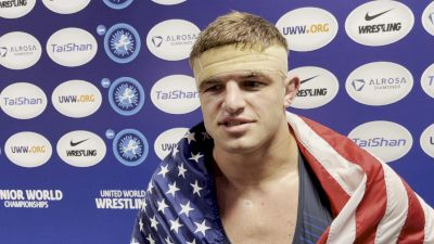 Braxton Amos Parents Call To Congratulate Him During His Post-Gold Medal Winning Match Interview