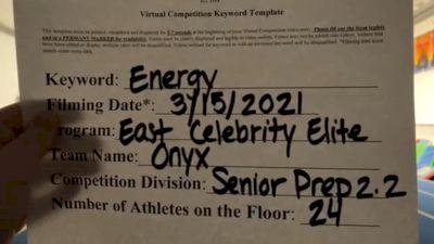 East Celebrity Elite - Onyx [L2.2 Senior - PREP] 2021 Beast of The East Virtual Championship