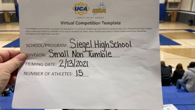 Siegel High School [Small Varsity Non Tumble] 2021 UCA February Virtual Challenge