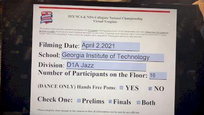 Georgia Tech [Divison IA Jazz Virtual Finals] 2021 NCA & NDA Collegiate Cheer & Dance Championship