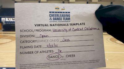 University of Central Oklahoma [Virtual Open Jazz Finals] 2021 UCA & UDA College Cheerleading & Dance Team National Championship