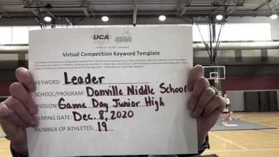 Danville Middle School [Game Day Junior High] 2020 UCA Southwest Virtual Regional