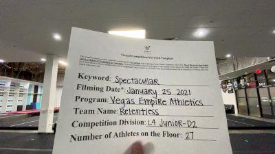 Vegas Empire Athletics - Relentless [L4 Junior - D2] 2021 ATC International Virtual Championship