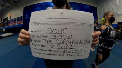 The California All Stars - Jr. Gunz [L2 Junior - Small] 2021 The Regional Summit Virtual Championships