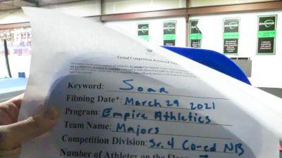 Empire Athletics - Majors [L4 Senior Coed - Non - Building] 2021 The Regional Summit Virtual Championships