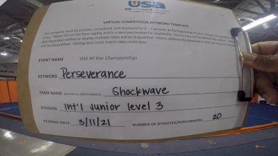 South Bay Cheer 360 - Shockwave [L3 - U17 - A] 2021 USA All Star Virtual Championships