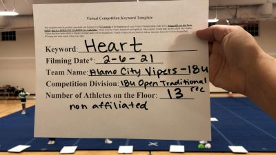 Alamo City Vipers - 18U [Open Traditional Recreation - 18 & Younger (NON)] 2021Varsity Recreational Virtual Challenge III