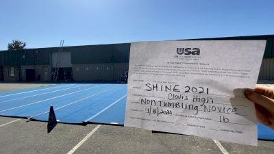 Clovis High School [Varsity Show Cheer Non Building Novice Prelims] USA Spirit & Dance Virtual National Championships