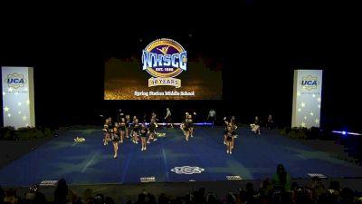 Spring Station Middle School [2020 Junior High Non Tumbling Semis] 2020 UCA National High School Cheerleading Championship