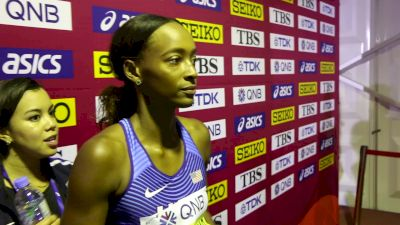 World Record Holder Dalilah Muhammad Easily Advances To 400mH Semis