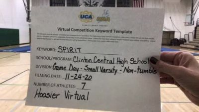 Clinton Central High School [Game Day Varsity - Non-Tumble] 2020 UCA Hoosier Virtual Regional