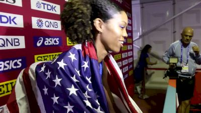 Vashti Cunningham Clears 2 Meters Again, Gets Bronze
