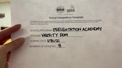 Presentation Academy [Varsity - Pom] 2021 UDA South Spring Virtual Dance Challenge
