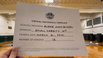Ridge High School [Small Varsity Non Tumble Virtual Finals] 2021 UCA National High School Cheerleading Championship