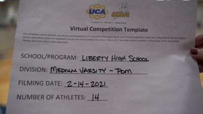Liberty High School (Liberty) [Medium Varsity - Pom] 2021 UDA Spirit of the Midwest Virtual Challenge