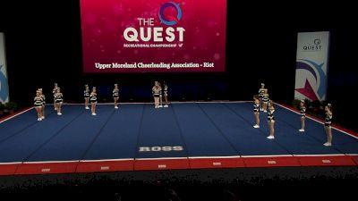 Upper Moreland Cheerleading Association - Riot [2021 L2 Performance Rec - 14Y (NON) - Large Finals] 2021 The Quest