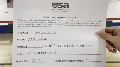Valencia High School [Open - Solo Finals] 2021 USA Spirit & Dance Virtual National Championships