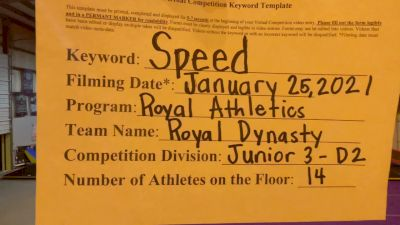 Royal Athletics - Royal Dynasty [L3 Junior - D2 - Small] 2021 Varsity All Star Winter Virtual Competition Series: Event I