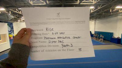Platinum Athletics - Sister PAC [L3 Youth] 2021 The Regional Summit Virtual Championships