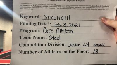 Core Athletix - Steel [L4 Junior - Small] 2021 Varsity All Star Winter Virtual Competition Series: Event II