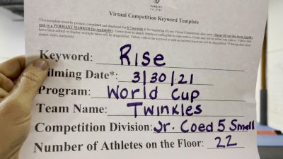 World Cup - Twinkles [L5 Junior] 2021 The Regional Summit Virtual Championships