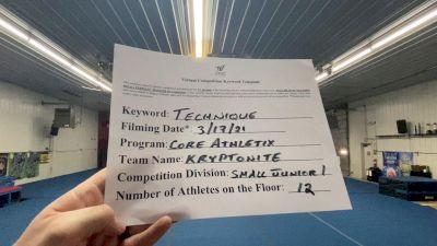 Core Athletix - Kryptonite [L1 Junior - Small] 2021 Varsity All Star Winter Virtual Competition Series: Event IV