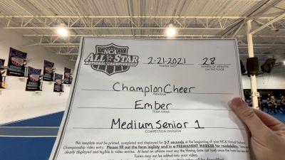 Champion Cheer - Ember [L1 Senior - Medium] 2021 NCA All-Star Virtual National Championship