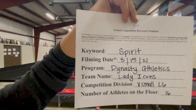 Dynasty Athletics - Lady Icons [L6 Senior - Xsmall] 2021 PacWest Virtual Championship