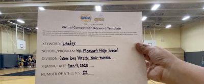 Mount Pleasant High School [Game Day Varsity - Non-Tumble] 2020 UCA Southwest Virtual Regional