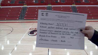 Dupont Manual High School [Virtual Medium Varsity - Hip Hop Prelims] 2021 NDA High School National Championship