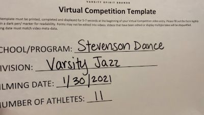 Stevenson High School [Small Varsity Jazz] 2021 UDA Spirit of the Midwest Virtual Challenge