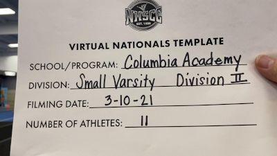 Columbia Academy [Small Varsity Division II Virtual Finals] 2021 UCA National High School Cheerleading Championship