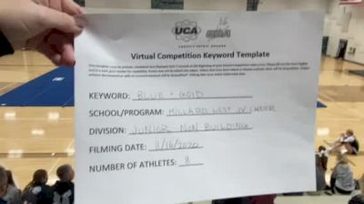 Millard West High School [Junior - Non Building] 2020 UCA Mid America Virtual Regional