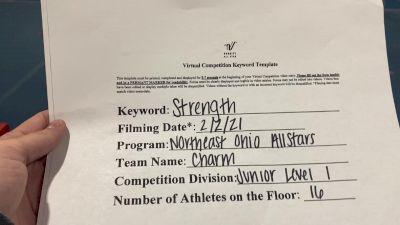 Northeast Ohio All Stars - Charm [L1 Junior - Small] 2021 Varsity All Star Winter Virtual Competition Series: Event II