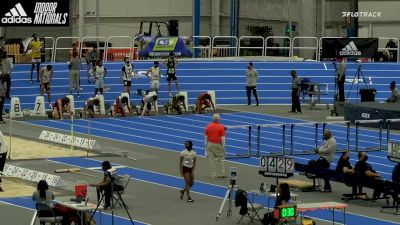 High School Boys' 60m Hurdles Championship, Heat 1