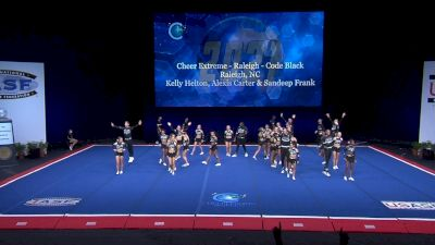 Cheer Extreme - Raleigh - Code Black [2021 L6 International Open Coed Non Tumbling Semis] 2021 The Cheerleading Worlds