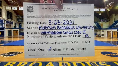 Alderson Broaddus University [Virtual Intermediate Small Coed Division II Prelims] 2021 NCA & NDA Collegiate Cheer & Dance Championship