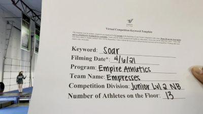 Empire Athletics - Empresses [L2 Junior - Non-Building] 2021 The Regional Summit Virtual Championships