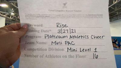 Platinum Athletics - Mini PAC [L1 Mini] 2021 The Regional Summit Virtual Championships