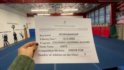 Colorado Lightning Athletics - Onyx [All Star Senior - Pom - Small] Varsity All Star Virtual Competition Series: Event VI