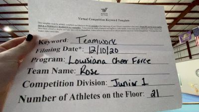 Louisiana Cheer Force - Rose [Level 1 L1 Junior - Small] Varsity All Star Virtual Competition Series: Event VII