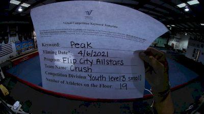 Flip City All Stars - Crush [L3 Youth - Small] 2021 The Regional Summit Virtual Championships