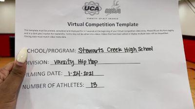 Stewarts Creek High School [Varsity - Hip Hop] 2021 UDA South Spring Virtual Dance Challenge