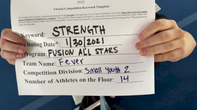 Fusion All Stars - FEVER [L2 Youth - Small] 2021 Varsity All Star Winter Virtual Competition Series: Event II