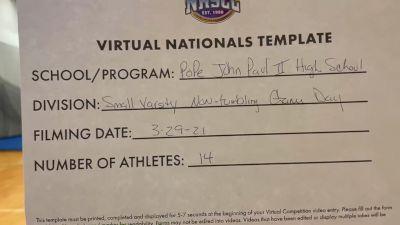 Pope John Paul II High School [Virtual Small Varsity Non Tumbling Game Day Finals] 2021 UCA National High School Cheerleading Championship