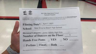 New Smyrna Beach High School Showdolls [Virtual Junior Varsity - Kick Finals] 2021 NDA High School National Championship